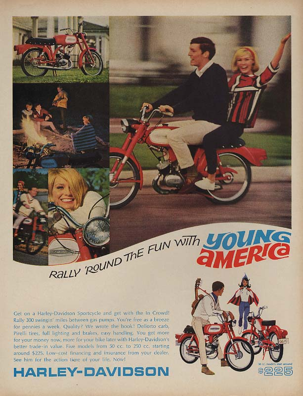 Image for Rally round the fun with Young America - Harley-Davidson Sportcycle ad 1966 L