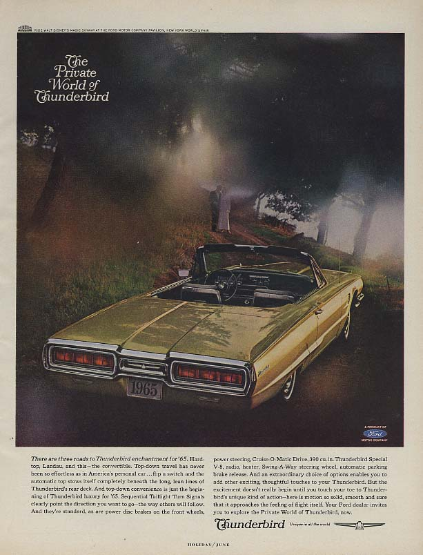 Image for There are three roads to Ford Thunderbird enchantment ad 1965 H