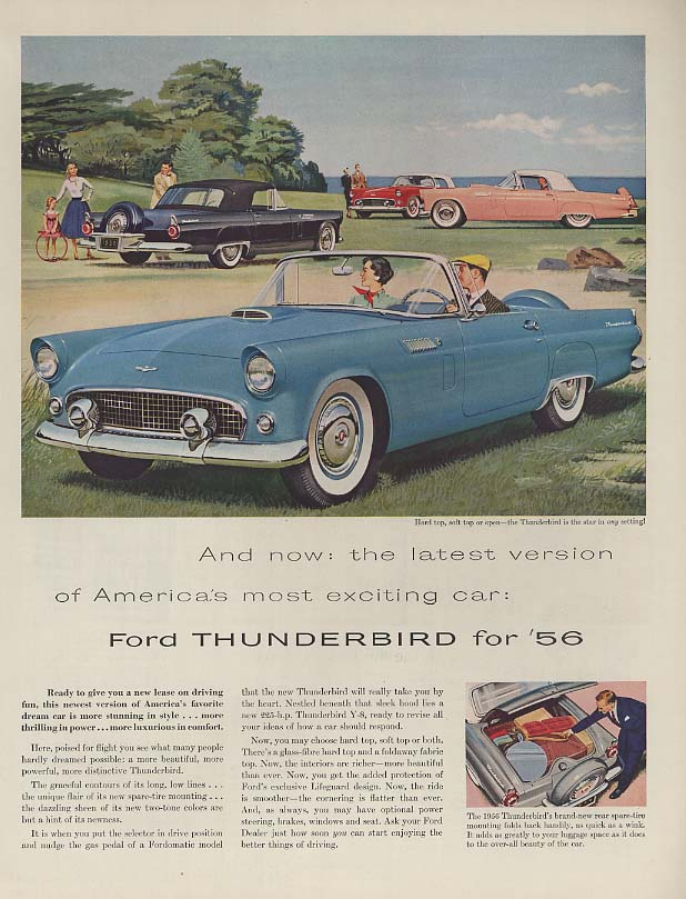 Image for Latest version of America's most exciting car - Ford Thunderbird ad 1956 H