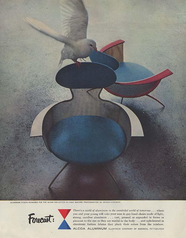 Forecast: Alcoa Aluminum in the world of tomorrow ad 1957 Paul McCobb chairs
