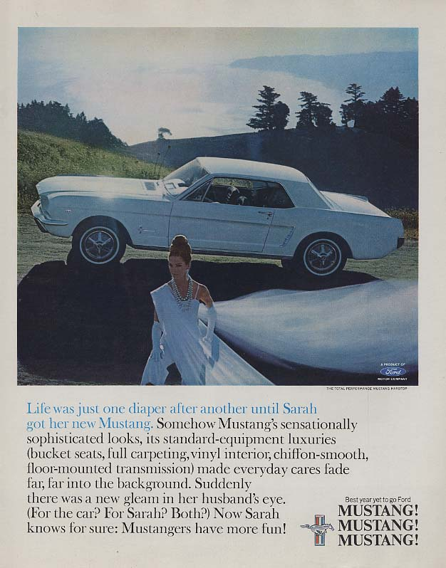 Image for Life was just one diaper after another Ford Mustang Hardtop ad 1965 SEP