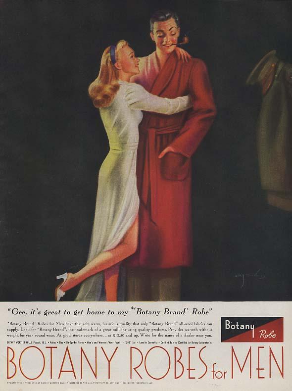Botany Robes for Men ad 1946 Billy DeVorss pin-up art ESQ