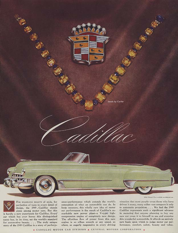 For sparkling beauty of style Cadillac Convertible ad 1949 H