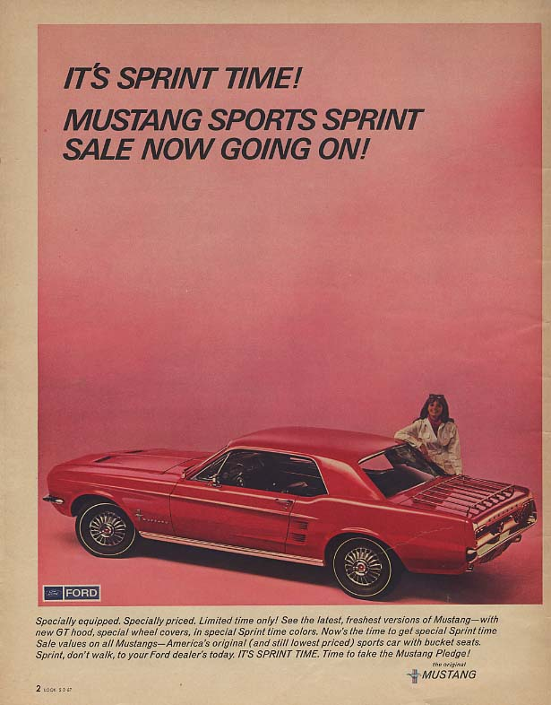 It's Ford Mustang Sprint Time - Sale Now Going On! Ad 1967 Lk
