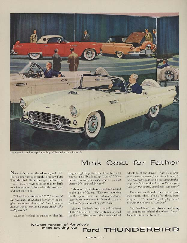 Image for Mink coat for Father - Ford Thunderbird ad 1956 H