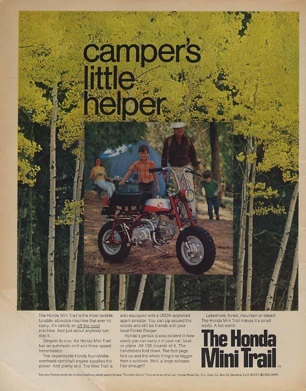 Camper's little helper - Honda Mini Trail ad 1969 LK