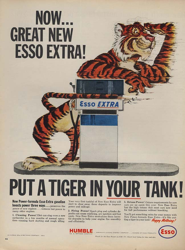 Image for Now - Great New Esso Extra - Put a Tiger in YOUR tank! Ad 1964 L