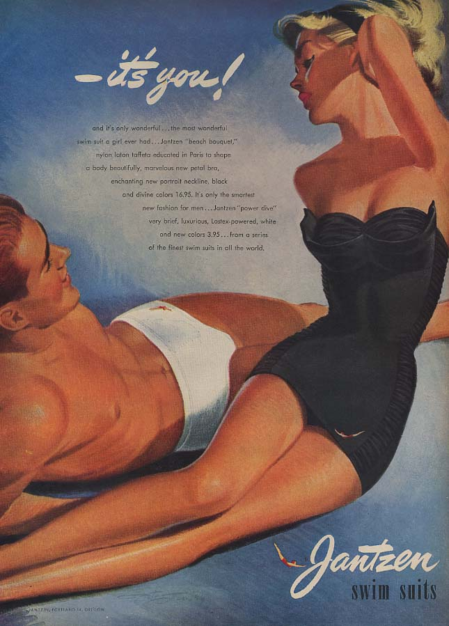 It's you! Jantzen Swimsuits ad 1952 Pete Hawley art L