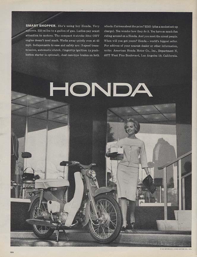 Image for Smart Shopper: Honda 50 Motorcycle ad 1963 L