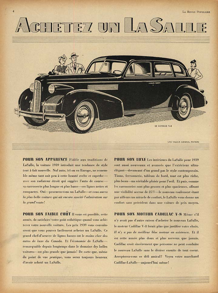 Achetez un a Salle pour apparance luxe faible cout ad 1939 French Canada