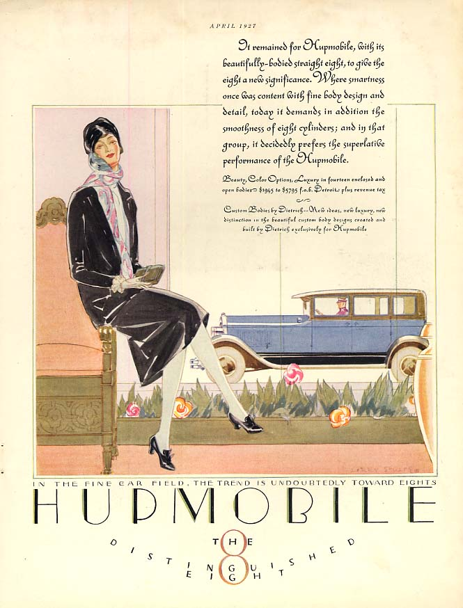 Give the eight a new significance - Hupmobile Eight ad 1927 var