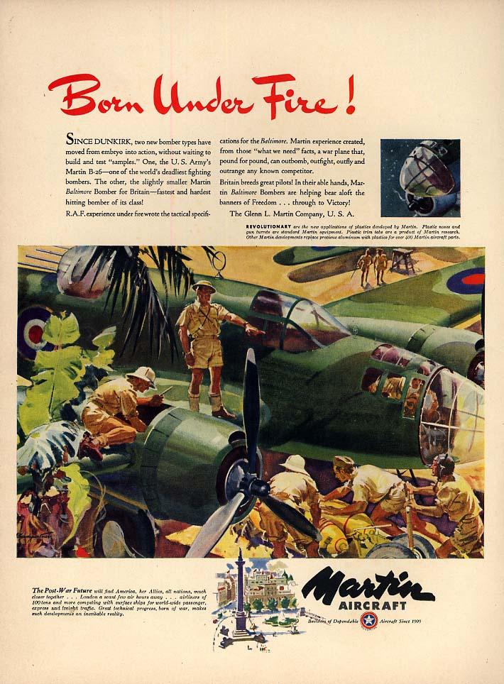 Born Under Fire! Martin B-26 Bomber ad 1942 L