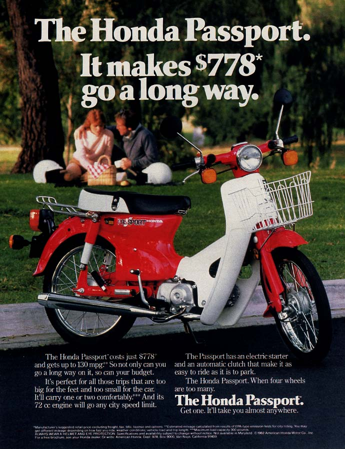 Image for It makes $778 go a long way Honda Passport Motor Scooter ad 1982 L