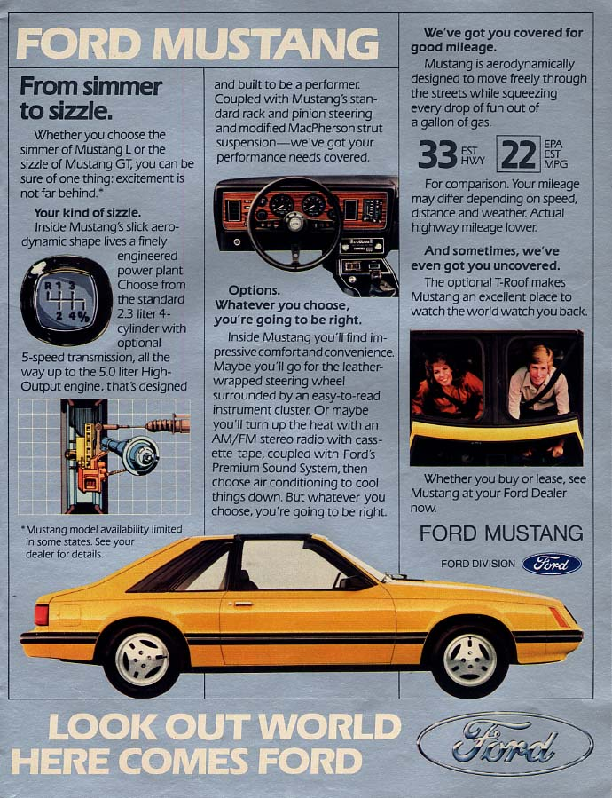 Image for From simmer to sizzle Ford Mustang GT ad 1982 L