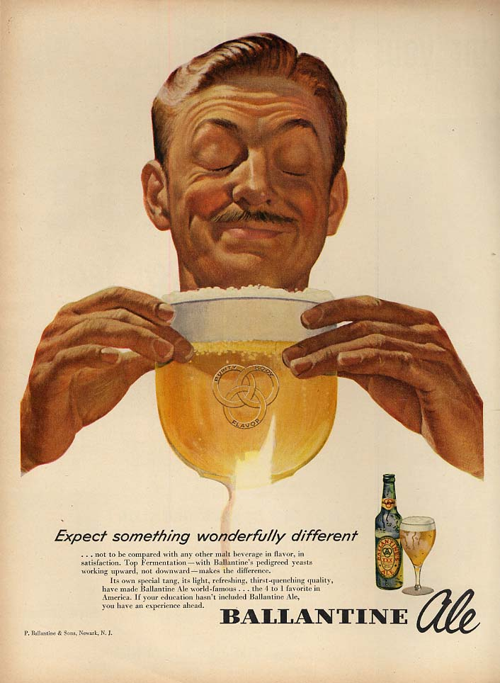 Expect something wonderfully different - Ballantine Ale ad 1953 L