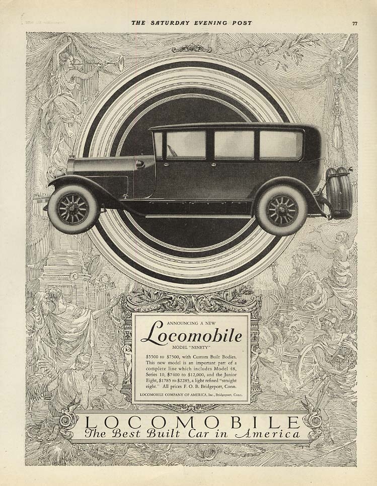 Announcing a new Locomobile Model Ninety ad 1926 SEP