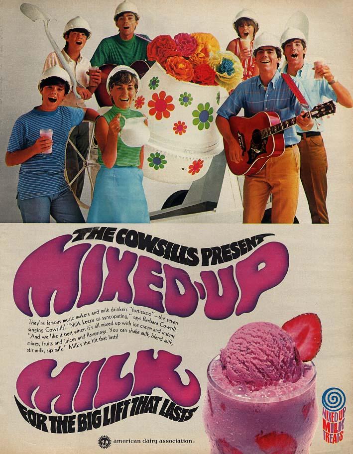 The Cowsills present Mixed-Up Milk - American Dairy Assn ad 1969 Lk