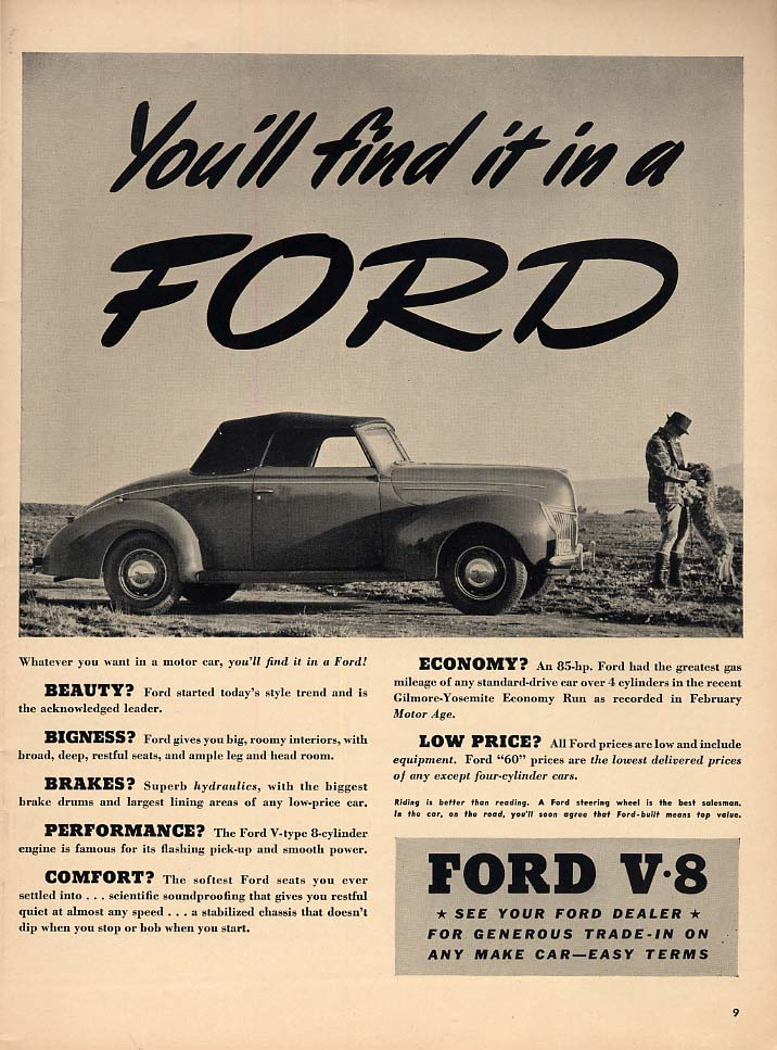 You'll find it in a Ford Roadster ad 1939 L