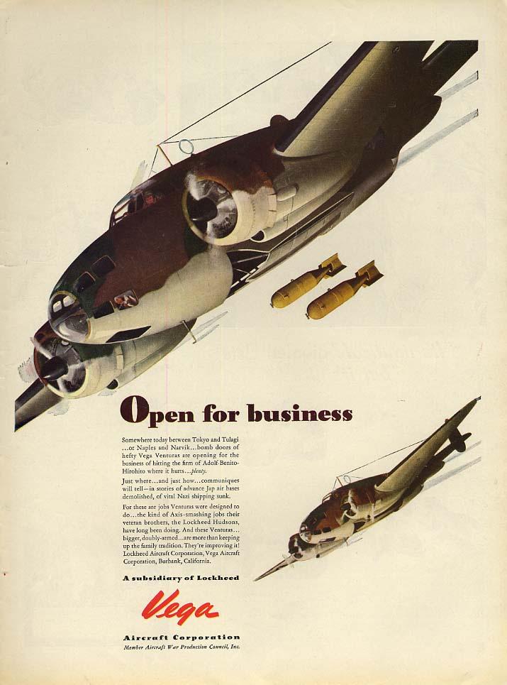 Open for business - the Lockheed Vega Ventura bomber ad 1942 L