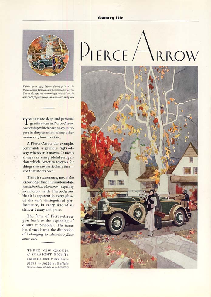 Deep and personal gratifications of ownership Pierce-Arrow Phaeton ad 1931 CL