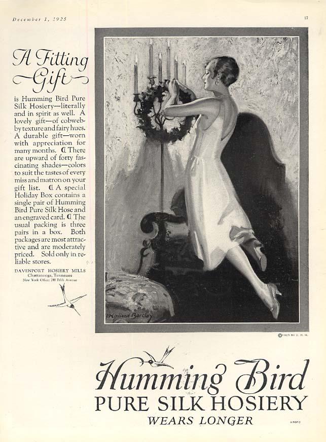 A Fitting Gift - Humming Bird Pure Silk Hosiery ad 1925