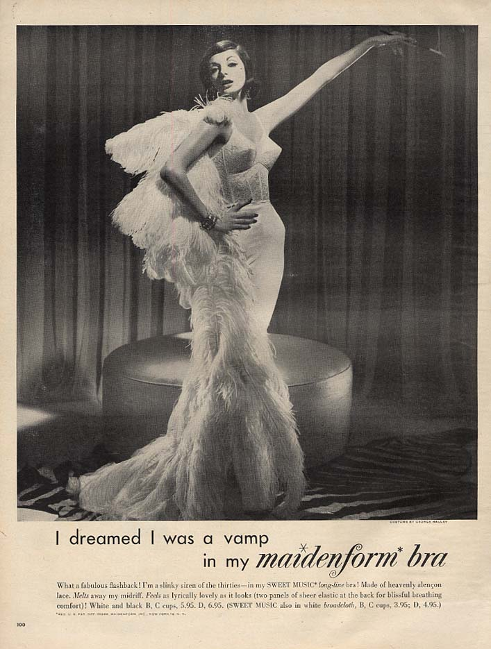 I dreamed I was a vamp in my Maidenform Bra ad 1960 L