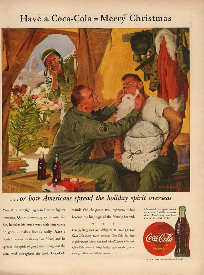Have a Coca-Cola = Merry Christmas Coca-Cola ad 1943 Sundblom L