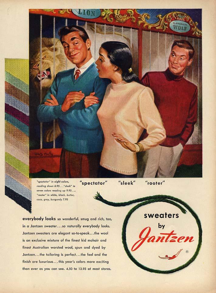 Spectator - Sleek - Rooter - Jantzen Sportswear ad 1947 L Pete Hawley