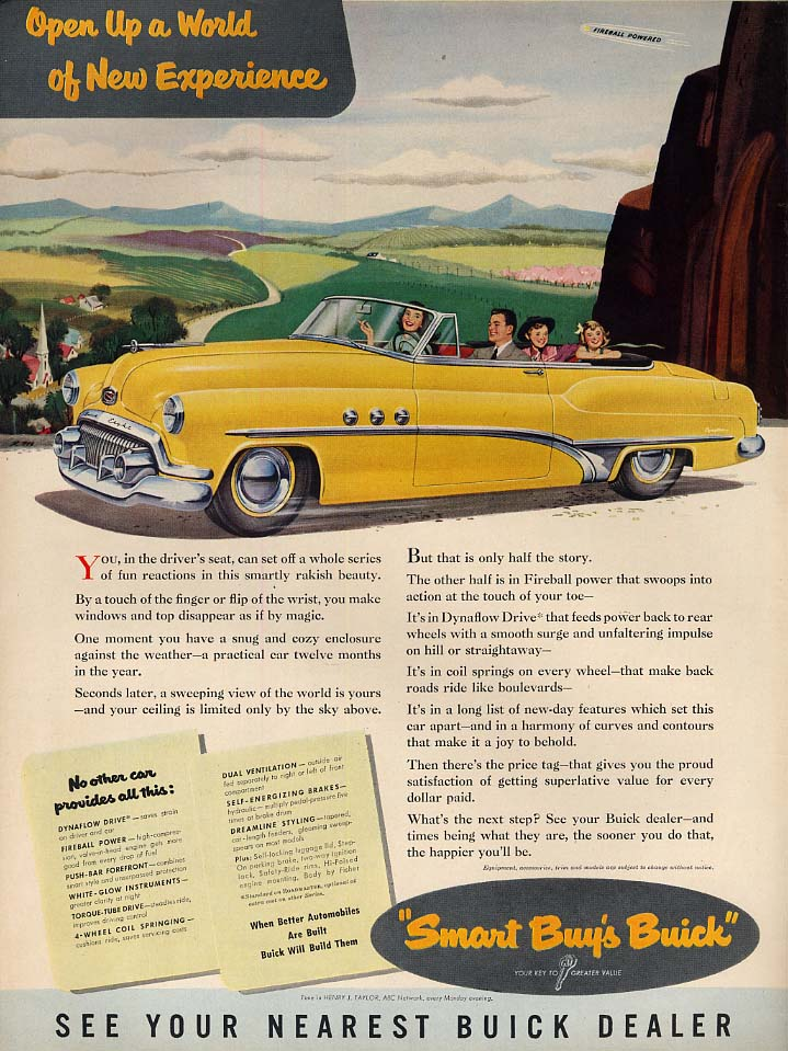 Open Up a World of New Experience - Buick Convertible ad 1951 L