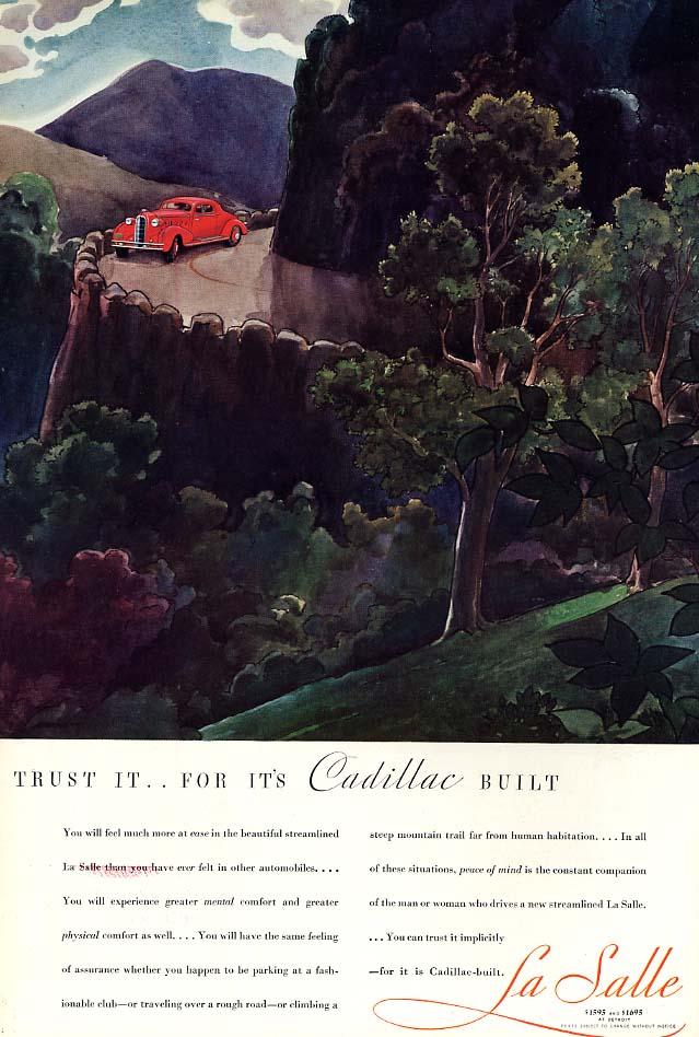 Trust It - for it's Cadillac Built - La Salle ad 1934 Esq