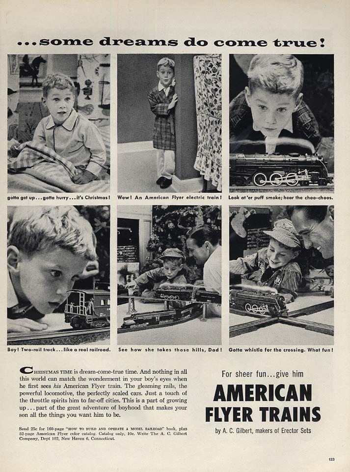 Some dreams do come true! American Flyer Electric Trains ad 1956 L