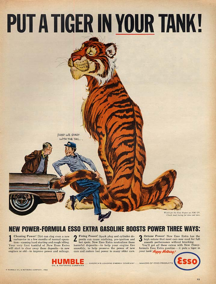 Image for Put a Tiger in YOUR tank! Esso Gasoline ad 1964 L