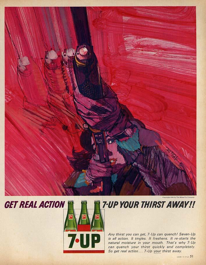 Get Real Action 7-up Your Thirst Away ad 1964 woman skeet sheeter B Peak Lk