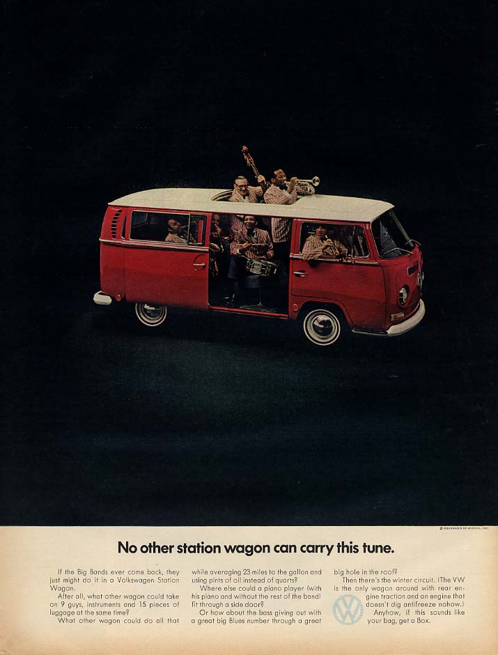No other station wagon can carry this tune Volkswagen ad 1969 L