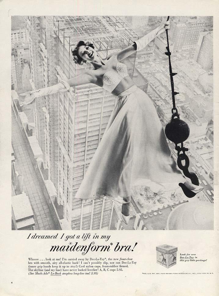 I dreamed I got a lift in my Maidenform Bra ad 1959 L