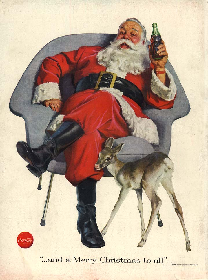 And a Merry Christmas to all Santa Claus for Coca-Cola ad 1956 L