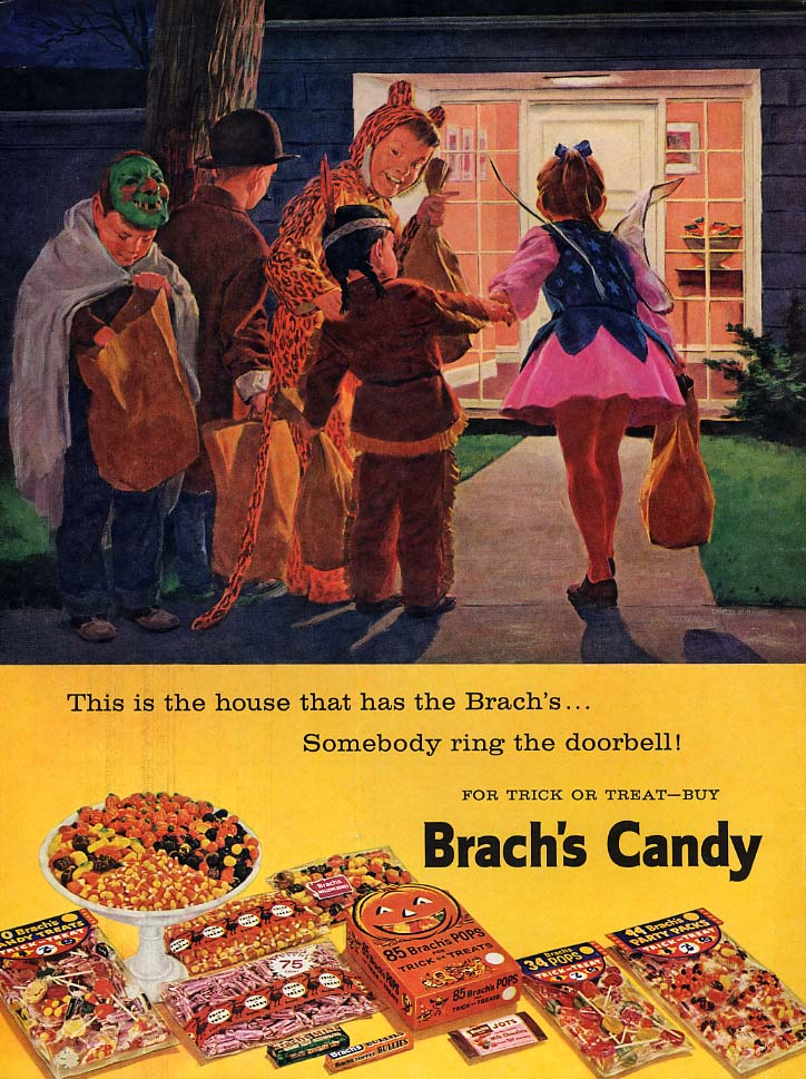 This is the house that has the Brach's Candy ad 1959 Halloween L