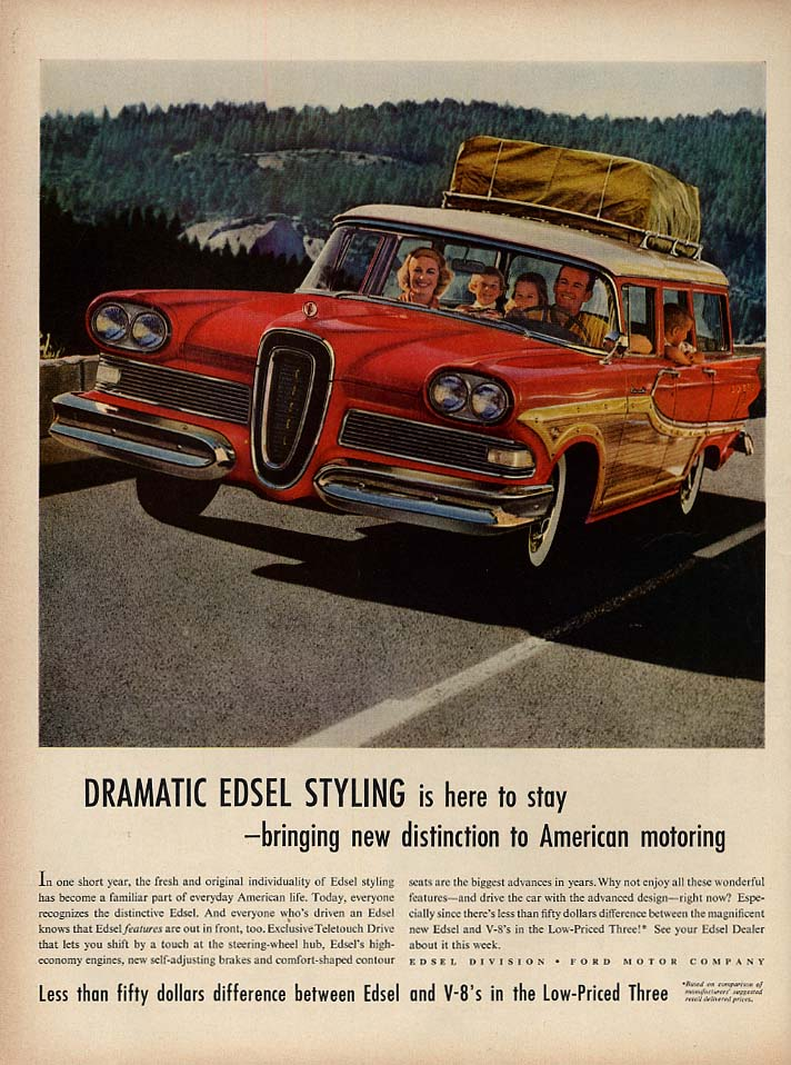 Bringing new distinction to American motoring Edsel Wagon ad 1958 L