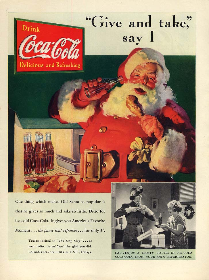 Give and take I Say - Santa Claus for Coca-Cola ad 1937 L