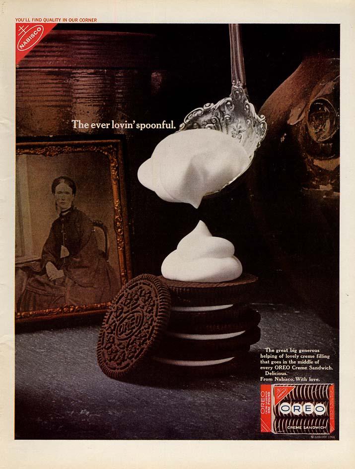 The ever lovin' spoonful Nabisco Oreos cookies ad 1968 L