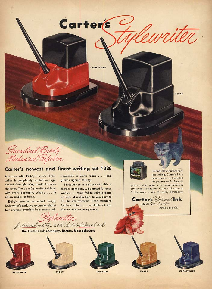 Carter's newest & finest writing set Carter's Stylewriter MAGAZINE AD 1946 L