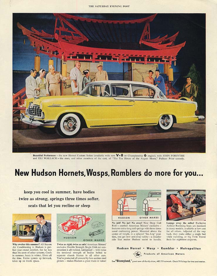New Hudson Hornets Wasps & AMC Ramblers do more for you ad 1955 P