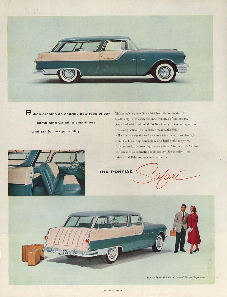 An entirely new type of car Pontiac Safari ad 1955 H