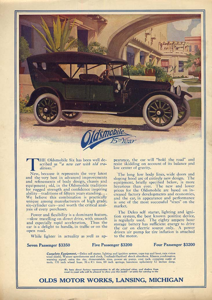 A new car with old traditions Oldsmobile Touring Car ad 1913 Col