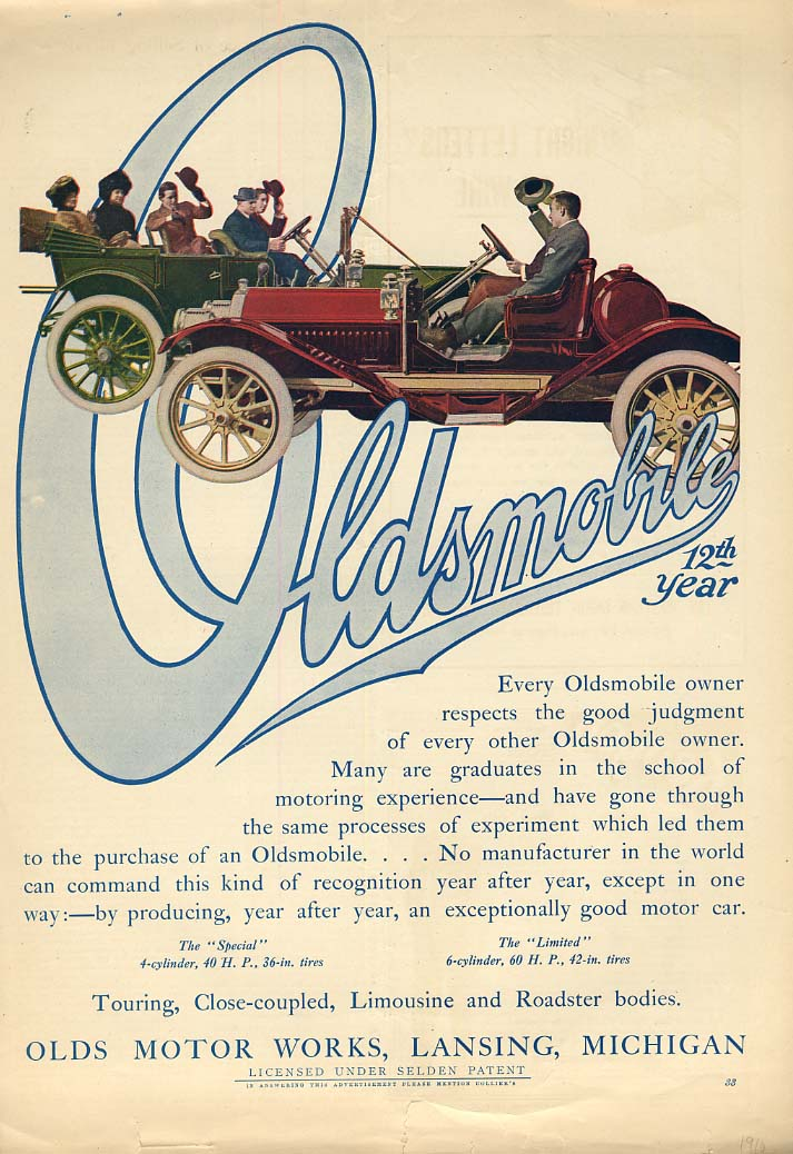 Every owner respects good judgment Oldsmobile ad 1909 Col