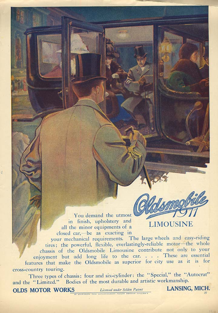 You demand the utmost - Oldsmobile Limousine ad 1911 Col