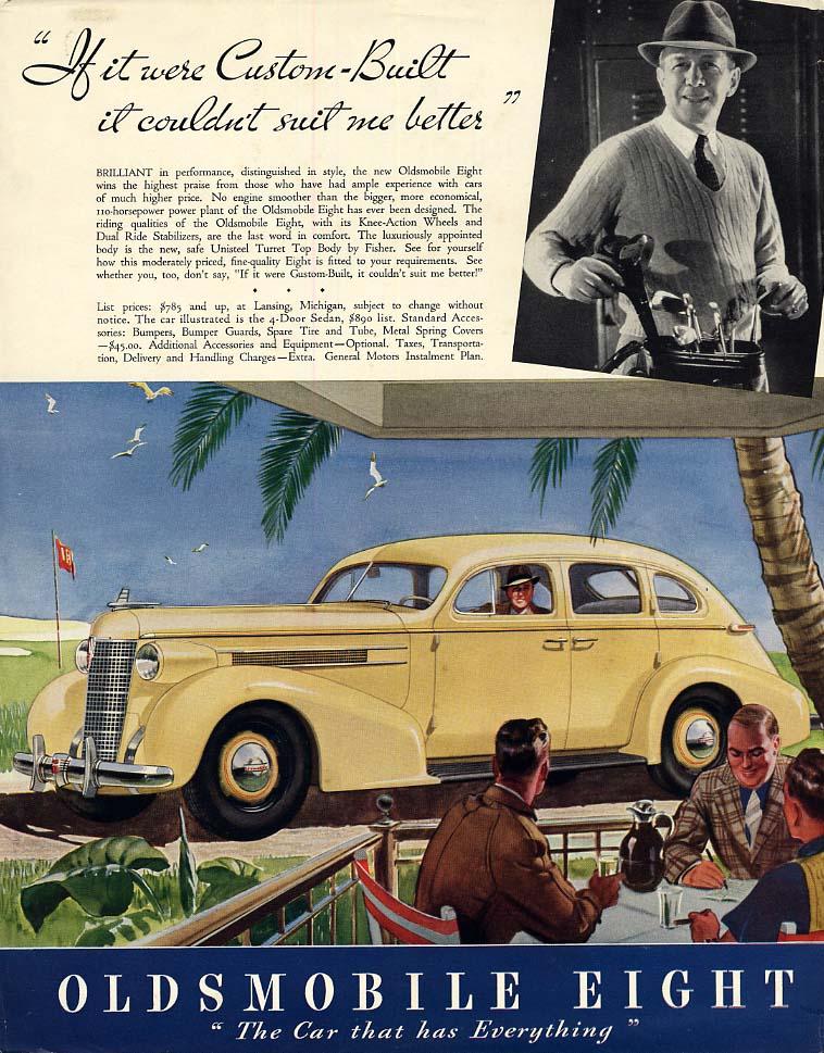 If custom-built it couldn't suit me better Oldsmobile Sedan ad 1937 F