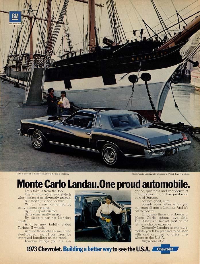 One proud automobile - Chevrolet Monte Carlo Landau ad 1973 black models Ebony