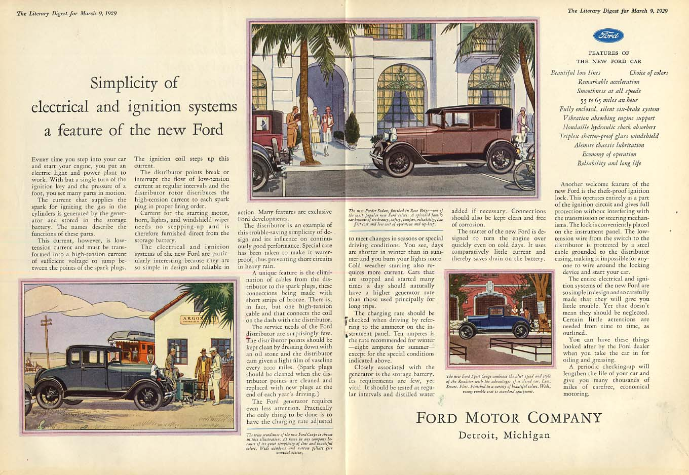 A very simple & effective lubrication system Ford Model A ad 1929 LD