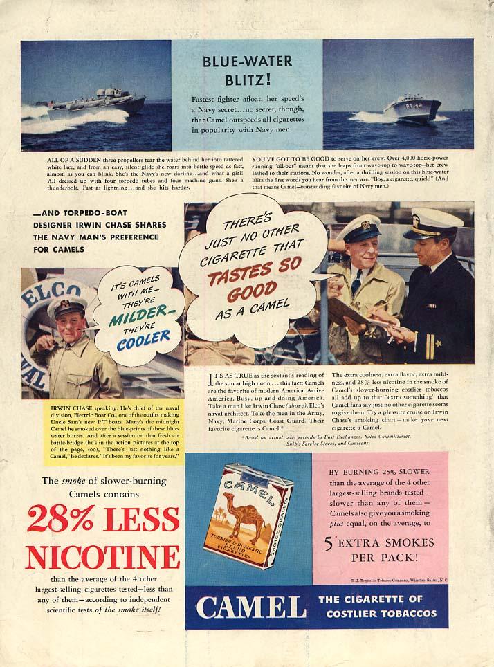 Blue-Water Blitz US Navy PT Boat designer Irwin Chase Camel Cigarettes ad 1941 L